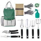 10 Pcs Garden Tool Sets ,Tool Bag,Apron,6 Gardening Tools,Gloves ,50m Bind Line