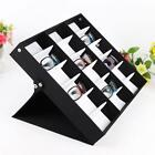 18 Slot Eyeglass Sunglasses Glasses Storage Case Display Grid Stand Box Holder