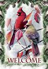 Morigins Welcome Cardinals Snow Pine Double Sided Winter Chr