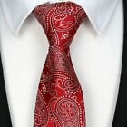 Mens Classic Silk Tie Necktie Striped Paisley JACQUARD Pattern Neck Ties