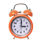 Non-Ticking Quartz Analog Retro Bedside Twin Bell Alarm Clock with Backlight