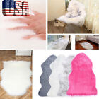 Faux Fur Fluffy Wool Rug Mat Hairy Sofa Floor Home Room Carpet Chair Seat Cover