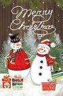 Morigins Snowman Couple Decor Merry Christmas Double Sided W