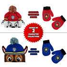 Nickelodeon Paw Patrol Hat and Mittens Cold Weather Set Toddler Boys Age 2 4