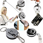 Lot Heavy Duty Retractable Reel Badge ID Holder Belt Clip Nurse Name Card Key