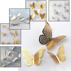 12pcs/set Party Decoration House Wall Stickers 3D Butterfly Decals Home Décor