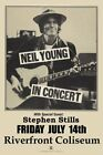 NEIL YOUNG-Riverfront Coliseum with Stephen Stills 1978 Original Concert Poster