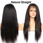 Natural Black Women 4*4 Silk Top Full Lace Human Hair Wig Straight Body Wave Dr2