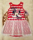 Disney Minnie Mouse Dress Toddler Super Star Patriotic Fourth July Size 5T