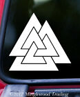 Valknut Odin's Knot  Vinyl Decal Sticker - Viking Fallen Warrior Symbol Thor