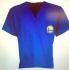 Golden State Warriors Scrub Top - Royal color Unisex Scrub Top by Concept Sports