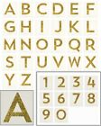 Meri Meri Chunky GOLD GLITTER Sticker All LETTERS ABC & NUMBERS 123 Gifts NEW 4""
