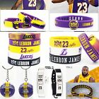 NBA Los Angeles Lakers Lebron James Silicone Wristband Bracelet Keychian Gift on eBay