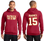 New Patrick Mahomes Kansas City Chiefs 15 Hoodie Jersey Red Hooded Sweatshirt on eBay
