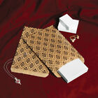 Lot Of 100 Paper Gift Bags & Jewelry Bags Gift Pouch - Damask Print And 3 Sizes