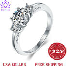 BORUO 925 Sterling Silver Ring CZ Eternity Engagement Wedding Band 4-12