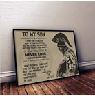Spartan Poster To my son poster warrior love dad father Best Gift for son