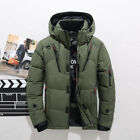 Men Thick Hooded Duck Down Jacket Ski Winter Warm Snow Puffer Coat Parka