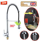 Kitchen Mixer with Pull Out Hose Tap Modern Monobloc Spray Single Lever Chrome