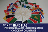More images of HAND WAVING FLAG 9 x 6 WOODEN STICK CHOOSE YOUR DESIGN