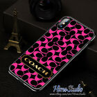 New 9Coach68Pink Black Cover iPhone7 8 X XR XS XS Max Samsung Galaxy S7 8 9 Case