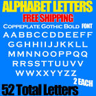 """Alphabet Letters Copperplate Gothic Bold Font 3/4"""" To 4"""" Sizes Stickers"""