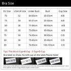 Lady Women Deep-V Sexy Embroidered Side Support Push Up Bra
