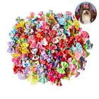 100/50/lot Dog Grooming Bows Diamond Pearls Style Pet Hair A