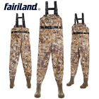 Camouflage chest waders w/ stockingfoot wading boots pants fly fishing accsssary