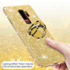 For Samsung Galaxy Note 10 Plus S9/8 Bling Diamond Hybrid Ring Holder Case Cover