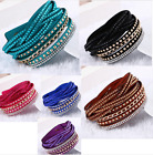Multilayer crystal Wrap bracelet punk Rhinestone deluxe bracelet Double wrap