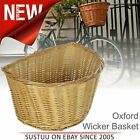 """Oxford Cycle/ Bicycle Wicker Basket D Shape│High Quality Woven│Size 12"""" to 20"""""""