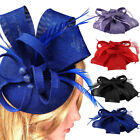 Women Elegant Fascinator Hat Bridal Feather Hair Clip Accessories Cocktail Royal