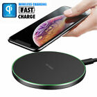 10W Fast Qi Wireless Charger Charging Pad For Samsung S10+ S9 S8 Apple iPhone XS