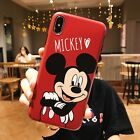 Cute Mickey Minnie Daisy Donald Lovers Soft Case Cover for iPhone XS Max XR 7 8+