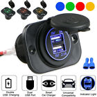 3.1A Dual USB Port Charger Socket Outlet Waterproof 12V LED for Motorcycle Car
