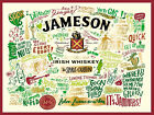 Jamesons Irish Whiskey METAL SIGN, 2 Sizes Available ideal for bar Man Cave