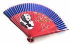 Chinese Bamboo Handfan Folding Fan Hand Painted with Peacock Graphic