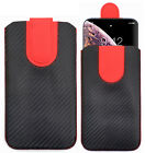 Sleeve Pouch Pull Tab Slide In Flip Up Case Cover for Logicom Smartphone