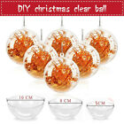 40X Clear Plastic Christmas Balls Baubles Sphere Fillable Xmas Tree Ornament