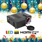 Multimedia HD 1080P Mini LED Projector Home Theater Cinema HDMI VGA AV USB TF