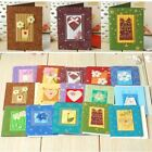 Handmade small  greeting cards for Christmas valentine kids birthday gift card m