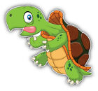 Funny Turtle Cartoon Car Bumper Sticker Decal  -  3'' Or 5''