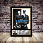Tom Hardy Stars LEGEND Film Framed Signed Poster Autographed Print A1 A2 A3 A4