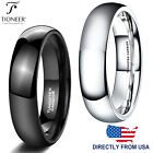 Tungsten Carbide Classic Dome Plain Wedding Band Ring 5MM | FREE ENGRAVING image