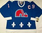 Vintage Quebec Nordiques Hockey Jersey Blue Joe Sakic 19 Embroidered Sewn