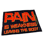 Gym Sweat Microfiber Sports Towel Bodybuilding Funny Pain Is Weakness Leaving Th