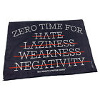 Gym Sweat Microfiber Sports Towel Bodybuilding Funny Zero Time For Hate Laziness