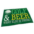 Golf Microfiber Sports Towel Funny Novelty Sweat Rag Golf And Beer What Else Is