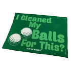 Golf Microfiber Sports Towel Funny Novelty Sweat Rag I Cleaned My Balls For This